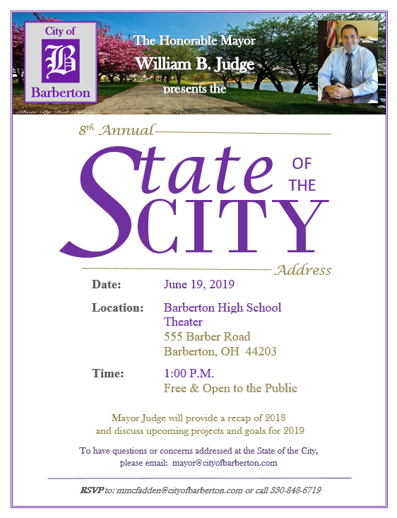 State of the City 2019 Invite